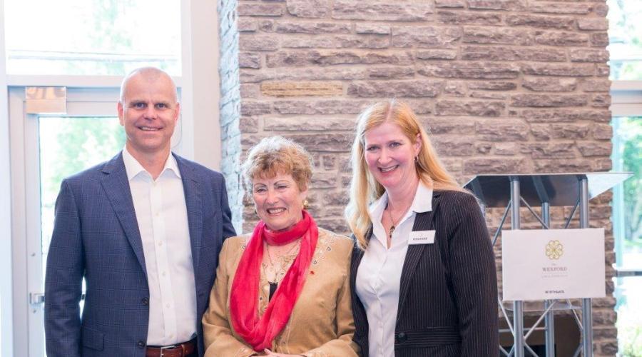 President Sean Hodgins, Mayor Lois Jackson, Manager Rosanne Philbrook